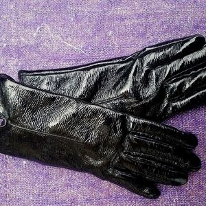 NWT TOPSHOP Black Faux Leather Gloves